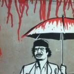 The Libyan artists driving Gaddafi to the wall