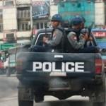 Burma police block Saffron anniversary protest