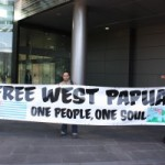 West Papuan activists protest during Pacific Islands Forum