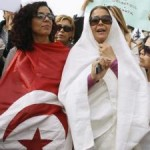 Tunisian women protest over Islamists