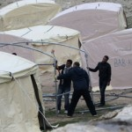 Palestinians erect tent city in E-1 to protest settlement construction