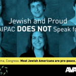 Anti-AIPAC posters in downtown Washington greet conference delegates