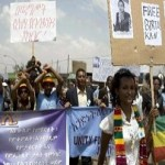 Thousands march for rights in rare Ethiopia protest