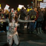 Clashes in Madrid as demonstrators rally against anti-protest bill