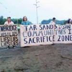 Michigan activists locking down to halt tar sands pipeline construction