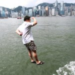 Four men jump into Victoria Harbour in protest against Occupy Central movement