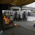 Clashes in Mexico protest over students