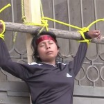 Mexican activists crucify themselves