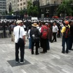 A Teachers' Day Protest in Mexico City Brings an Army of Police into the Streets