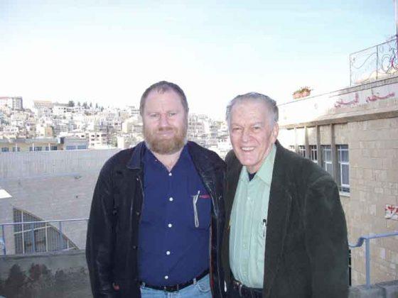 Gene Sharp and Jørgen Johansen in Palestine